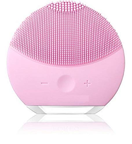 Kri N Sha S.K.SALES Facial Cleansing Brush, Sonic Silicone Scrubber, Face Vibrating Massager, IPX7 Waterproof, Rechargeable, Deep Cleaning for All Skins- multicolour