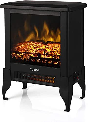 TURBRO Suburbs TS17 Compact Electric Fireplace Stove, Freestanding...