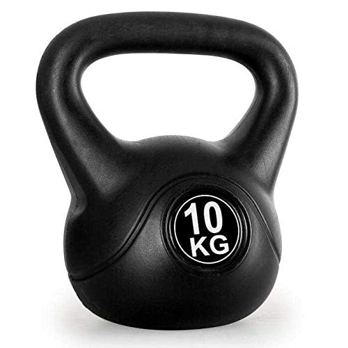 Kettlebell schwarz Kugelhantel für Krafttraining Crossfit Fitness (verfügbar in 8 kg - 10 kg) (10)