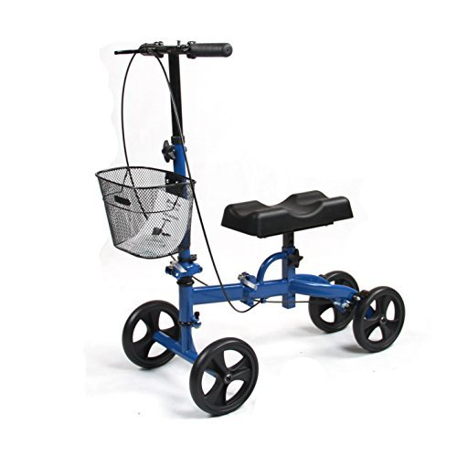 Healthport Knee Walker | Steerable Knees Scooter for Foot Injuries | Folding, Dual Breaks, Parking Mechanism | Increased Turning Radius for Indoor and Outdoor |