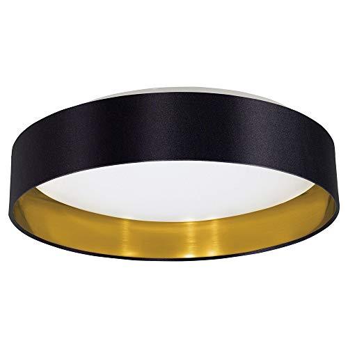 Eglo Lighting 31622A LED Ceiling Mount, Black/Gold