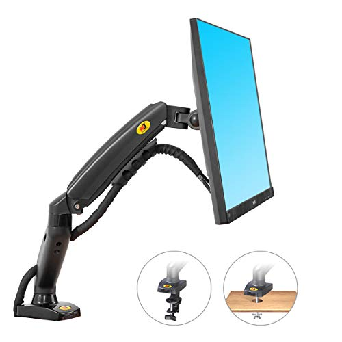 NB North Bayou Monitor Desk Mount Stand Full Motion Swivel Monitor Arm with Gas Spring for 17-27''Monitors(Within 4.4lbs to 19.8lbs) Computer Monitor Stand F80