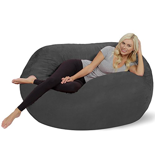 Chill Sack Bean Bag Chair: Huge 5' Memory Foam Furniture Bag...