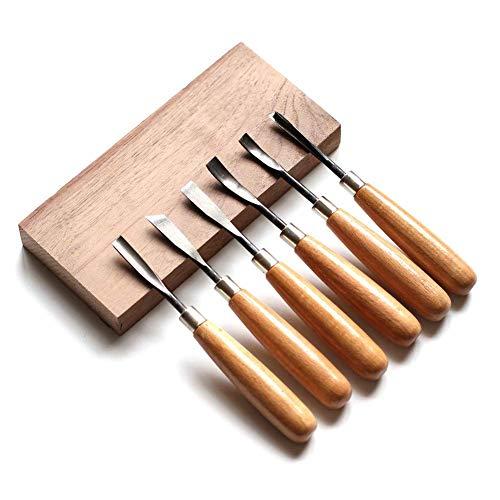 Stechbeitel Set, Queta Schnitzmesser Schnitzwerkzeug Meißel Holzschnitzereien Messer werkzeug set 6 stück