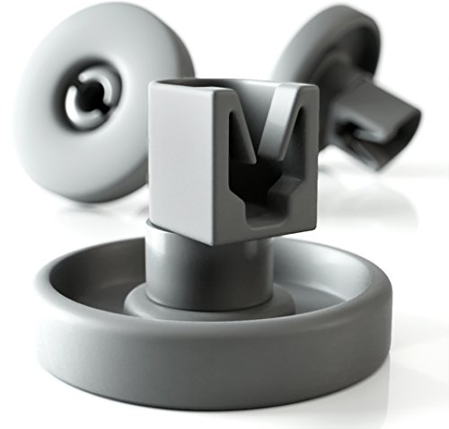 Set di rotelle lavastoviglie cestello Plemont [cesto inferiore] - rotelle lavastoviglie rex electrolux - universale adatte a molte cestello lavastoviglie - ricambi lavastoviglie rex