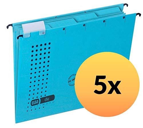 ELBA 400060957 Projektmappe und Personalmappe chic ULTIMATE mit Heftung aus Recycling-Karton für DIN A4 seitlich offen in blau Personalakte Personalhefter ideal im Büro und der Behörde