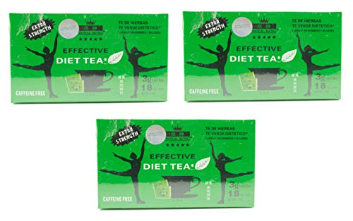 3 Boxes Royal King Extra Strength Diet Green Tea 18 Tea Bags Each Box