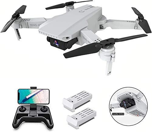0BEST Mini Drone con videocamera HD 4K, Posizionamento del Flusso Ottico a Doppia videocamera, Mantenimento dell'altitudine, modalit Senza Testa,quadricottero Pieghevole WiFi FPV, per Principianti