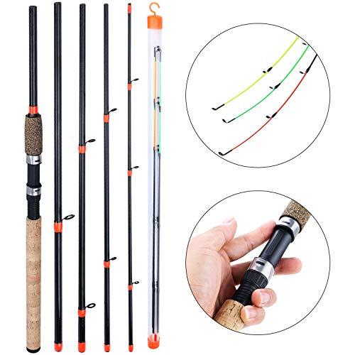 Sougayilang - Canna da pesca portatile Feeder Rod con 3 punte