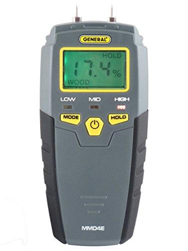 General Tools MMD4E Digital Moisture Meter, Water...