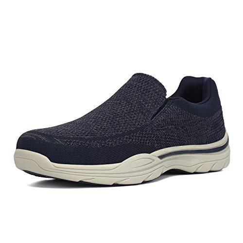 PAMRAY Zapatos de Mocasines Hombre Loafer Slip On Zapatillas Cómodo Calzado de Walking para Hombre Azul 45