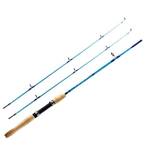 Anzhenji 2018nuovo ml UL 1.5m canna da pesca Ultralight spinning Rods ultra Light esche da spinning canna da pesca, blue
