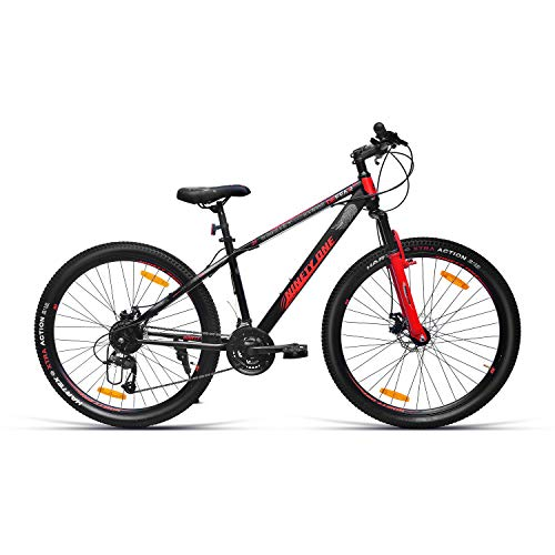 NINETY ONE Defeatr Pro 29T 21 Speed Hybrid Bike ( Black & Red , Ideal For: 12+ Years , Brake: Disc )