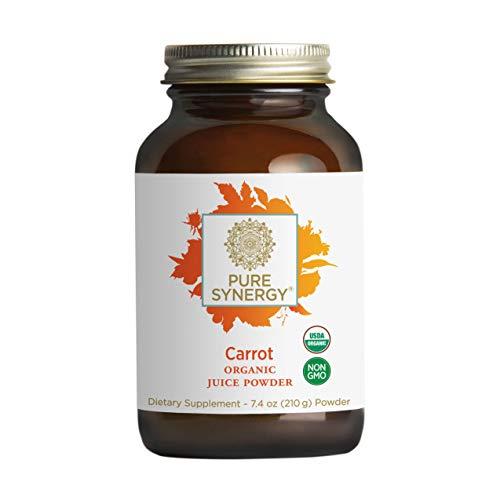 Pure Synergy USDA Organic Carrot Juice Powder (7.4 oz) USA...