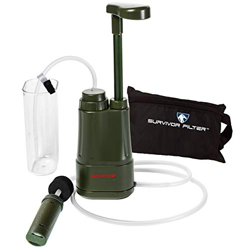 Survivor Filter Pro - Hand Pump Camping Water Filter - Emergency...