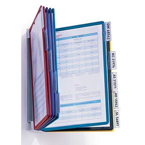 Durable 556700 Sichttafelsystem (Vario Wall, mit 10 farbigen Sichttafeln A4) hellgrau
