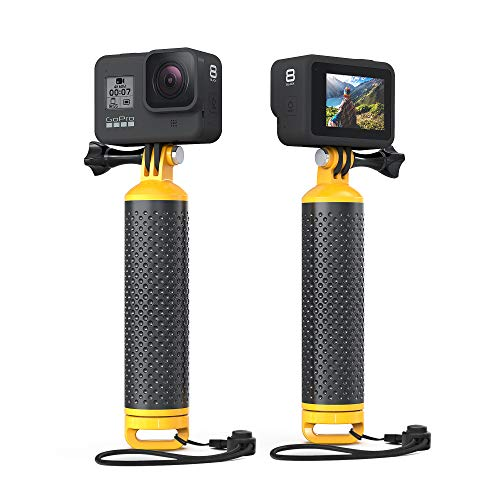 Sametop Impugnatura Galleggiante Impermeabile Compatibile con GoPro Hero 9, 8, 7, 6, 5, 4, Session, 3+, 3, 2, 1, Hero (2018), Fusion, DJI Osmo Action Camera