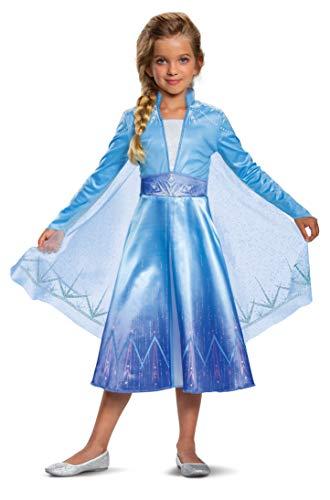 Disguise Disney Elsa Frozen 2 Deluxe Girls' Halloween Costume Blue, 3T-4T