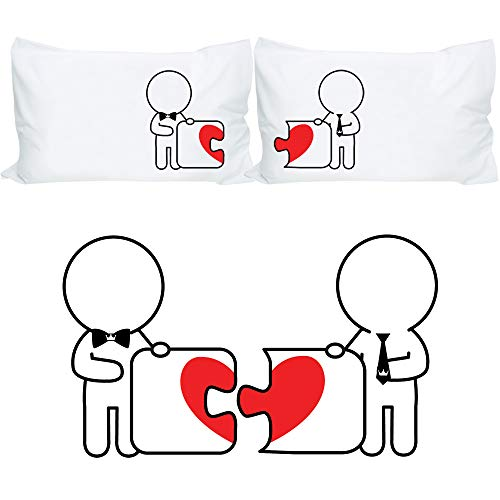 BOLDLOFT Made for Each Other His and His Pillowcases- Gay...