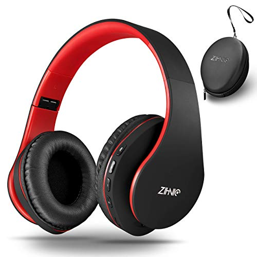 Wireless Over-Ear Headphones with Deep Bass, Foldable Wireless and Wired Stereo Headset Buit in…