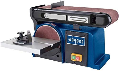 SCHEPPACH BTS900 Ponceuse à Bande et à Disque 150mm de Diamètre, 230V, Puissance de 370W, Bleu