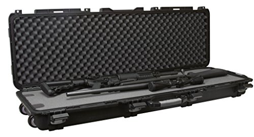 Plano Mil-Spec Field Locker Tactical Long Gun Case with Wheels, Double Long Gun Case, Black