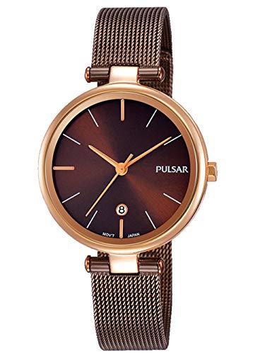 Pulsar Damen Analog Quarz Uhr mit Edelstahl Armband PH7466X1