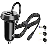 FouceClaus Car Charger for Philips, DBPOWER, Sylvania, UEME, APEMAN Portable DVD Player, 12V Car Cigarette Plug Portable DVD Player Power Cord with Dual USB Ports (6.6Ft Cable)