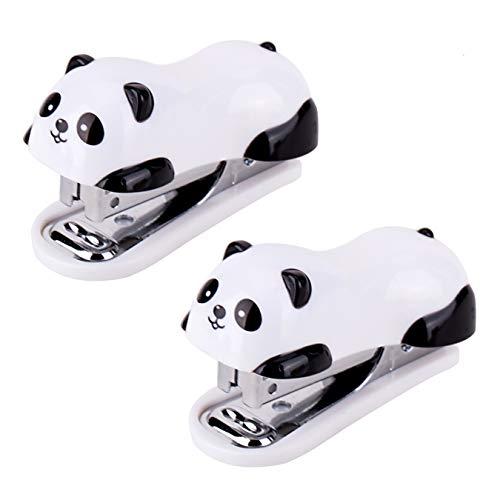 XLKJ 2 Pezzi Mini Cucitrice di Piccole,Cucitrice per Animali Cucitrice di Piccola Panda del Fumetto