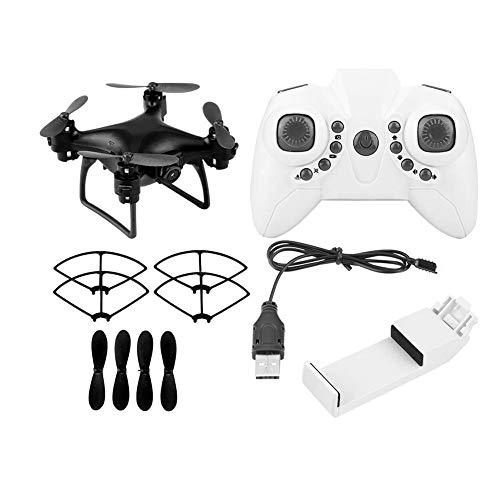 Telecomando Drone Wifi FPV telecamera pressione d'aria Altitudine attesa RC Quadcopter (0.3MP, Nero)