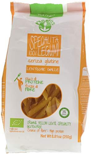 Probios Penne 100% Lenticchie Gialle Bio senza Glutine - Confezione da 12 x 250 g