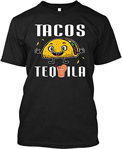 Sunyuer Camiseta Personalizada Funny Tacos and Tequila Men's Camiseta Estampada Divertida de Manga Corta