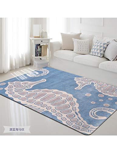 ZLJPP Marine Animal Print Carpets For Living Room Game Mat/Rugs Child Baby Bedroom Crawl Area Rug...