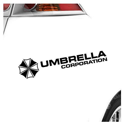 Umbrella Corperation – 20 x 4,5 cm, en 15 colores llamativos o cromado pegatina autoadhesiva