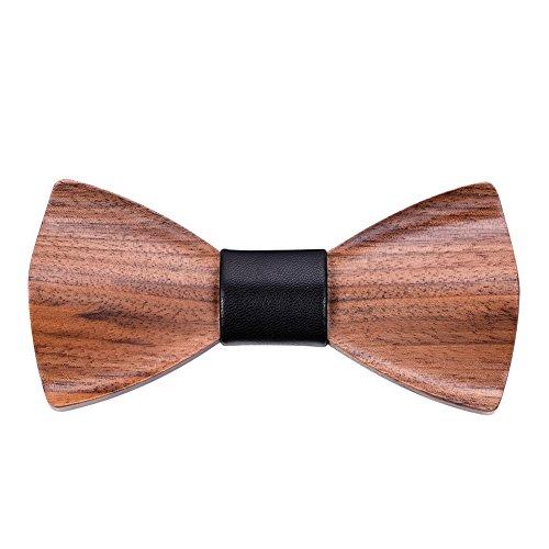 Hölz Fliege Herren, Mr.Van Handgearbeitete Natürliche Klassische Mode Hölzerne Krawatte Fliege...