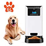 Uterip 6L Automatic Pet Feeder Food Dispenser for Dogs and Cats - Programmable Timed Auto Dog Feeder with Voice Record, Up to 4 Meals Per Day