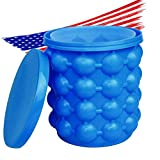 Silicone Ice Bucket For Freezer Cube Maker, Ice Cup Mold