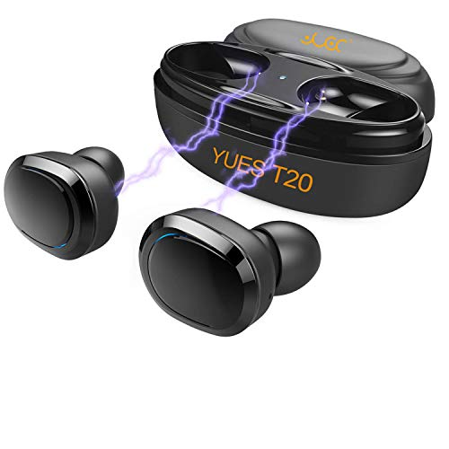 YUES T20 Auriculares Bluetooth, Mini In-Ear Sport Graves Profundos...