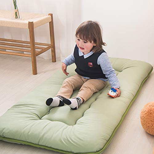 Product Image 5: YOSHOOT Portable Toddler Travel Bed, Kids Memory Foam Floor Mattress Bed Foldable, Mattress for Toddler, Portable Travel Mattress Camp Mattress Tatami Mat, with Mattress Cover and Carry Storage Bag