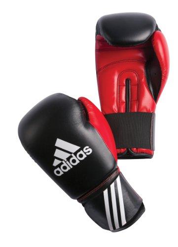 Adidas Guanti da boxe, Multicolore (nero/ rosso), 12 oz