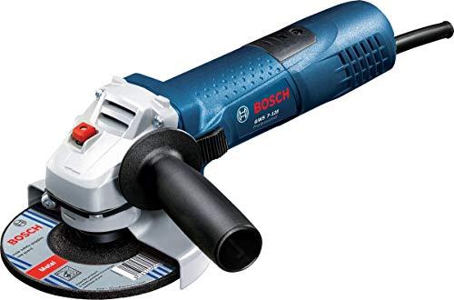 Bosch Professional Meuleuse d'angle GWS 7-125 (720 watts, disque Ø: 125 mm, avec poignée supplémentaire, bride de montage, écrou de serrage, couvercle de protection, clé à deux trous, boîte carton)