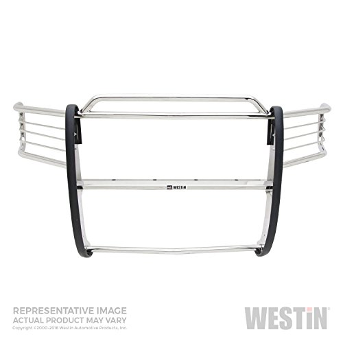 Westin 45-0240 Sportsman Polished Stainless Steel Grille Guard - 1 Piece