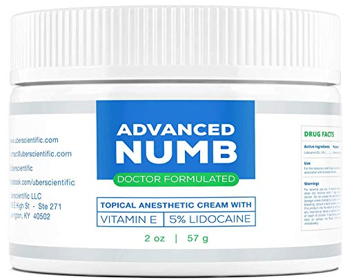 Advanced Numb (2 oz) 5% Lidocaine Pain Relief Cream, Lidocaine Ointment, Numbing Cream, Made in USA