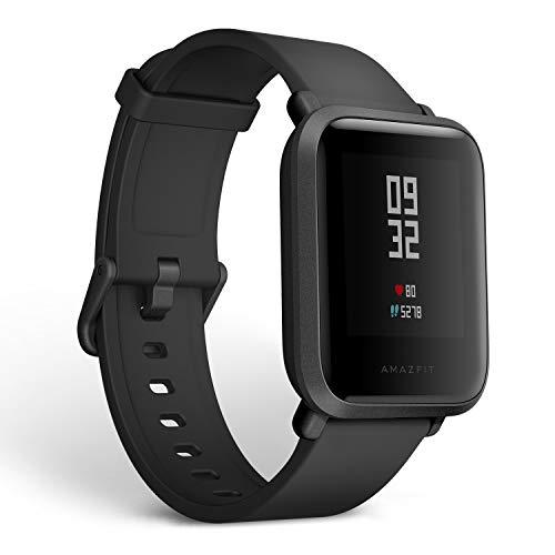 Xiaomi Amazfit Bip A1608 Smartwatch Cardiofrequenzimetro Fitness da 1,28', Ultra-Leggero, Impermeabile IP68, Versione EU, Nero