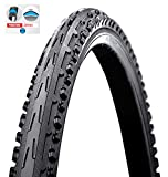 BIRIA Tire Bicycle, Street 26' X 2.0 (Inch) Puncture Resistant 5mm, Puncture Guard, Thorn Resistant, Cross Thread Comfortable Ride, GIB 80