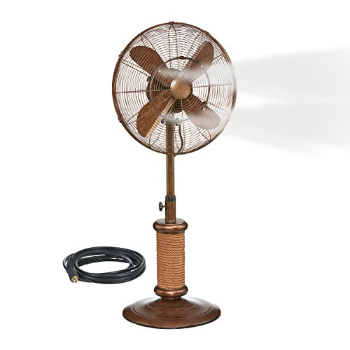 Oscillating Fan with Misting Kit - 3 Cooling Speeds with High RPM, Adjustable Height - Art...