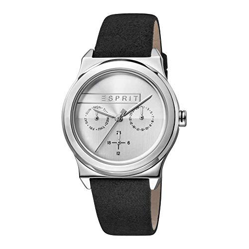 Esprit Damen Multi Zifferblatt Quarz Uhr mit Leder Armband ES1L077L0015