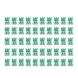 WXZQ 50 Piezas pequeña Herramienta Tornillo Objeto Caja de Almacenamiento de componentes electrónicos Caja de Laboratorio SMT SMD Emerge automáticamente contenedor de Parche Verde