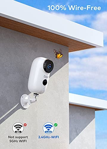 Security Camera Wireless Outdoor, IHOUMI WiFi Battery Indoor Camera, IP65 Waterproof, IP Cam with Two-Way Audio, Night Vision, Motion Detection(with Rechargeable Battery) 16
