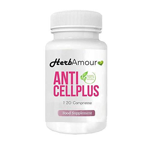 HerbAmour AntiCellPlus | Integratore Naturale | 120 Cpr. Drenanti Dimagranti Forti E Brucia Grassi Efficaci | Prodotto Perdipeso Per Perdere Chili Velocemente | Senza Caffeina | Senza Glutine